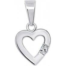 Brilio Silver Romantický prívesok Srdce s kryštálom 446 001 00367 04 dede4342967