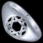 30bcf578a Silver.ag Prsteň strieborný Dávidova hviezda hexagram R2866