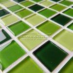 MOSAGRES No-204 Mozaika 30 x 30 cm sklo zelená mix