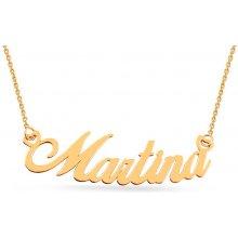 6e7601312 iZlato Forever Zlatá retiazka s menom Martina IZ7577