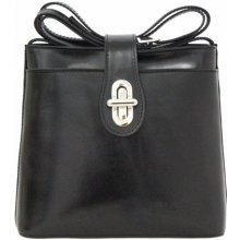dd9be578ab Made In Italy kožená kabelka 6005A čierna