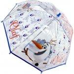 Priehľadný dáždnik Ľadové Kráľovstvo Olaf