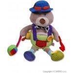 Baby Mix plyšová hračka s chrastítkem a pískátkem méďa