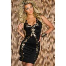 4Lover Mini šaty black Foil LC2813