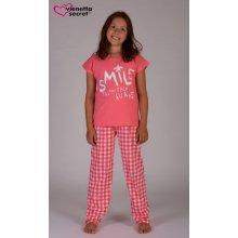 Dětské pyžamové kalhoty Tereza jahodová