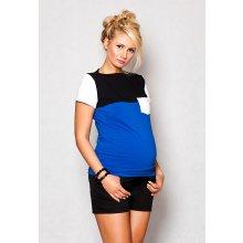 tehotenské tričko blúzka Anna tm.modrá