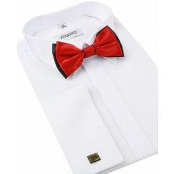 f5dc1d78e32e Venergi Slávnostná biela košeľa na manžetové gombíky (klasický strih ...