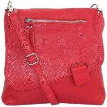 a1c946eceea7a Talianske kožené kabelky dámske cez rameno stredné červené Olina