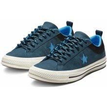 Converse modré kožené pánské tenisky One Star Ox Blue Black 86bba672ea6
