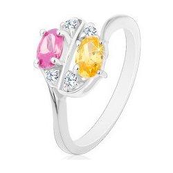 5ab161365 Šperky eshop Prsteň zdobený farebnými zirkónovými oválmi a čírymi  zirkónikmi S16.04 od 3,45 € - Heureka.sk