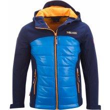 Trollkids chlapčenská softshellová bunda Lysefjordom modrá