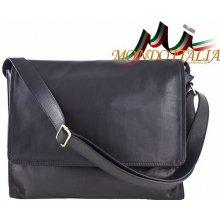 Made In Italy kožená taška cez rameno 685 čierna a568068de6d