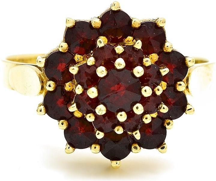 Prsteň Aranys Zlatý prsten kytka Český granát 2 768 - Zoznamtovaru.sk 89c377aa2f0
