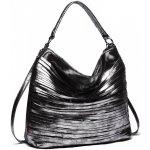 Miss Lulu elegantná štýlová dámska kabelka s prúžkami na rameno čierna 998fbaa76e6