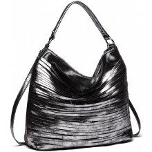 ccaba3f825 Miss Lulu elegantná štýlová dámska kabelka s prúžkami na rameno čierna