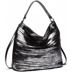 Miss Lulu elegantná štýlová dámska kabelka s prúžkami na rameno čierna 5ab3cd92e3e