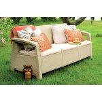 ALLIBERT pohovka k záhradného nábytku CORFU LOVE SEAT MAX piesková/béžová