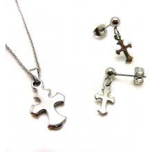cf8b2b999 Sada Krížik náhrdelník a náušnice ny2432 chirurgická oceľ