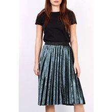 2ea648b73833 Plisovaná stredne dlhá sukňa zelená