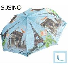 ad37b194c Skladací dáždnik poloautomatický Susino DeLuxe Paríž ART43002AO