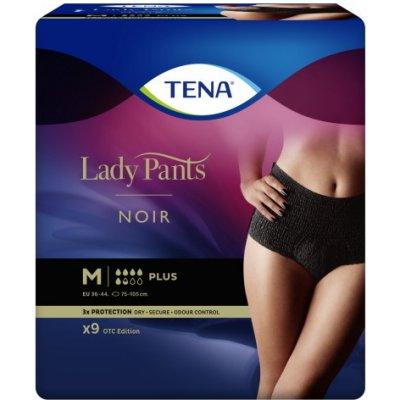 Tena Lady Pants plus čierne nohavičky veľ. M, 9 ks