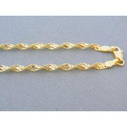 1b4ab1114 MARM Design Zlatá retiazka žlté zlato točený vzor DR565592Z 14 karátov
