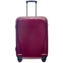 d5145557fda03 Puccini PC019B-3 Cestovný kufor stredný 78 litrov na 4 kolieskach červený