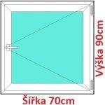 Soft Plastové okno 70x90 cm, otváravé