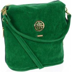 35b6afa734 Grosso dámska crossbody kabelka so zlatou aplikáciou M267 Zelená ...