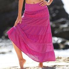 Blancheporte macramé dámska sukňa indická ružová