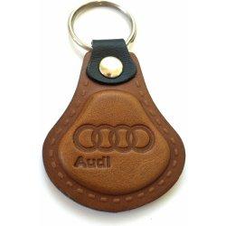 Prívesok na kľúče Kožená Audi hnedá AUTO Two M od 6 b3019627c5d