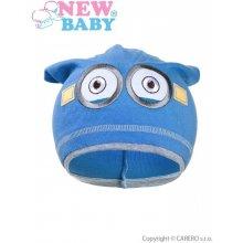 New Baby jesenná detská čiapočka mimoň bledo modrá