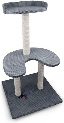 Argi škrabadlo pro kočky - Naomi - šedé - 90 x 55 x 55 cm od 31 bd9cc3d8c78
