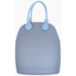 Obag sivá kabelka Grigio Chairo so svetlo modrými koženkovými rúčkami 72508caa5f9