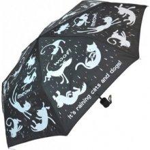 Blooming Brollies Dámsky skladací mechanický dáždnik Everyday Raining Cats & Dogs RDC