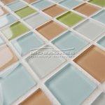 MOSAGRES No-242 Mozaika 30 x 30 cm sklo růžovomodrobílozelená