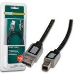 Digitus USB kábel A/samec na B-samec, 2x tienený, 3m