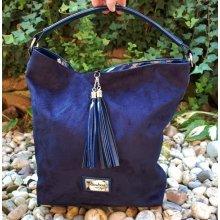 da3b11d14670 kabelka modrá tmavá laková semišová matná