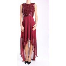 2782bfd61804 Dámske spoločenské šaty dlhé (č. 38415) - bordové D3