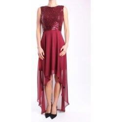 Dámske spoločenské šaty dlhé (č. 38415) - bordové D3 od 39 7ec56c72da3