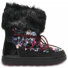 3e2f2d681b Crocs Lodgepoint Graphic Lace Boot obuv do snehu čierna
