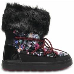 1c4289f6b Crocs Lodgepoint Graphic Lace Boot obuv do snehu čierna od 60,23 ...