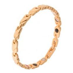 5e718e4a7 Šperky eshop oceľový náramok zlatej články s vyvýšeným šikmým pásom,  magnety SP29.03