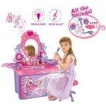G21 Detský kozmetický stolík so zrkadlom a zvukmi ružový