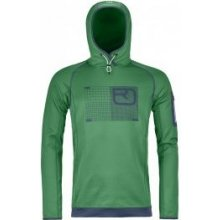 d12fe00a815 Ortovox MERINO FLEECE LOGO HOODY irish green