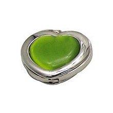 Háčik na kabelku - zelené srdce