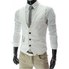 Luxusná pánska vesta ku obleku biela
