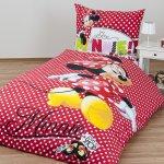 Jerry Fabrics obliečky bavlna Minnie shopping 140x200 70x90