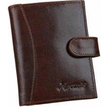 Mercucio Elegantné puzdro na karty v hnedej farbe RFID 9298039dec7