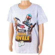Detské tričko Fortnite Battle Royale sivé